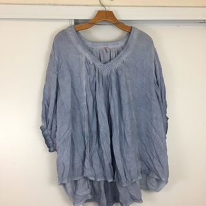 NWT! Free People Catch Me If You Can Peasant Top